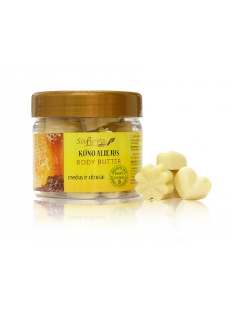 Kietas aliejus kūnui Medus ir citrusai, 170 g