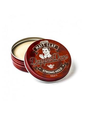 Dapper Dan Matt Clay Stiprios fiksacijos, matinis plaukų modeliavimo molis, 100 ml